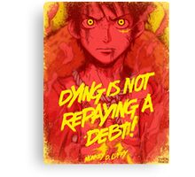 One Piece - Luffy with quote Canvas Print