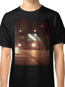 Urban landscape and bus at night Hasselblad analog medium format c41 film photo Classic T-Shirt