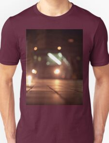 Urban landscape and bus at night Hasselblad analog medium format c41 film photo T-Shirt