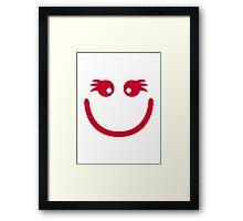 Smiley girl face Framed Print