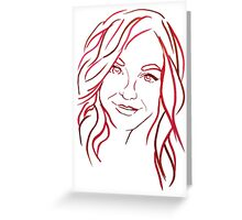 Red Portrait Greeting Card