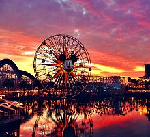 Paradise Pier Sunset by dlr-wdw
