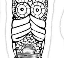 Hear, See, Speak No Evil Owl Sticker