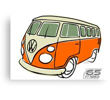 VW Type 2 bus orange Canvas Print
