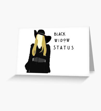 Black Widow Status Greeting Card