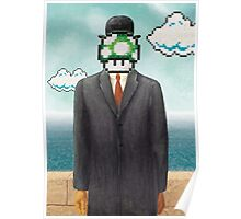Magritte Parody Video Game Son of Man 1UP Poster