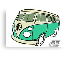 VW Type 2 bus green Canvas Print