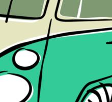 VW Type 2 bus green Sticker
