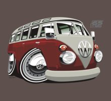VW split-screen bus caricature T-Shirt