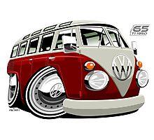 VW split-screen bus caricature Photographic Print