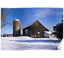 Winter Farm Poster