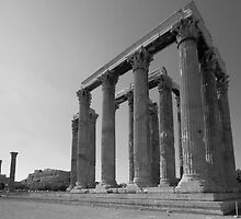 Temple of Olympian Zeus by Vagelis Georgariou