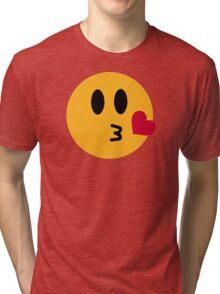 Smiley kiss Tri-blend T-Shirt