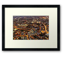 City Lights, London, United Kingdom Framed Print