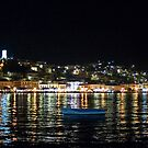Poros Island At Night by Vagelis Georgariou