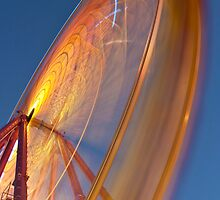 Ferris wheel at night. Rye foreshore carnival. by RyePixels