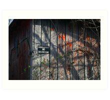 No Trespassing Art Print