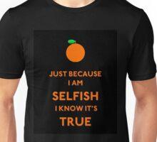 Blue - Selfish Unisex T-Shirt