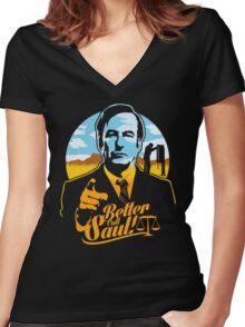 Better Call Saul Women's Fitted V-Neck T-Shirt