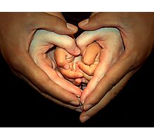Hands of love Photographic Print
