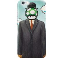 Magritte Parody Video Game Son of Man 1UP iPhone Case/Skin