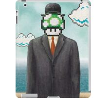 Magritte Parody Video Game Son of Man 1UP iPad Case/Skin