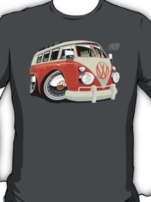 VW Type 2 bus orange caricature T-Shirt