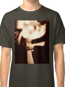 Pianist plays piano music in wedding marriage party silver gelatin black and white 35mm negative analog film sepia photo  Classic T-Shirt
