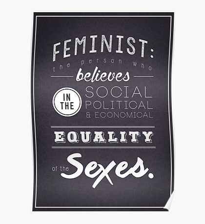 I AM A FEMINIST  Poster