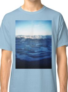 Mediterranean sea off Ibiza in blue dusk sunset evening color Hasselblad square medium format film analogue photo Classic T-Shirt