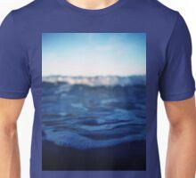 Mediterranean sea off Ibiza in blue dusk sunset evening color Hasselblad square medium format film analogue photo Unisex T-Shirt