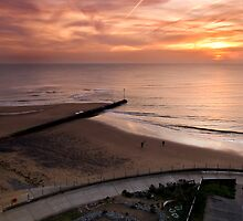 Sunrise over the sea garden by Paul Tremble