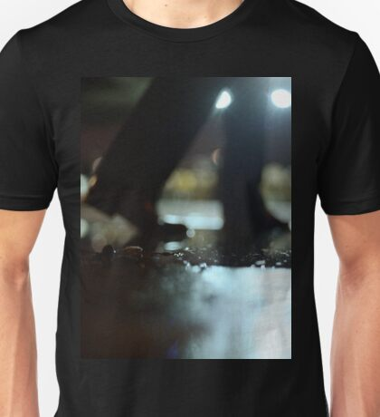 Man walking at night with urban city lights artistic color medium format square negative analog film photo Unisex T-Shirt