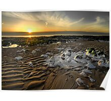 Sunrise over the English Channel Poster