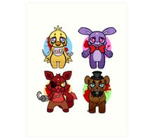 Five nights at Chibi Art Print