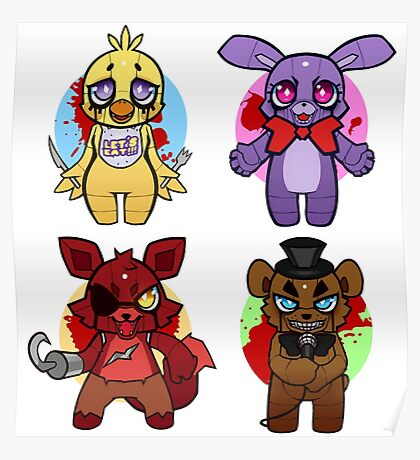 Five nights at Chibi Poster