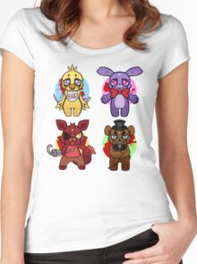 Five nights at Chibi Women's Fitted Scoop T-Shirt