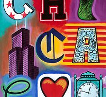 Chicago Icons by Carla Bank