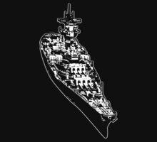 USS Iowa (BB-61) by deathdagger