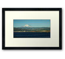 Mount  Hood  over Portland Oregon Framed Print
