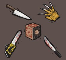 The Claw, The Box, The Knife, The Blade, and the Saw by Kaylie White