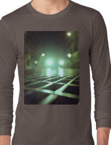 Grid city streets Hasselblad square medium format analogue film photograph Long Sleeve T-Shirt