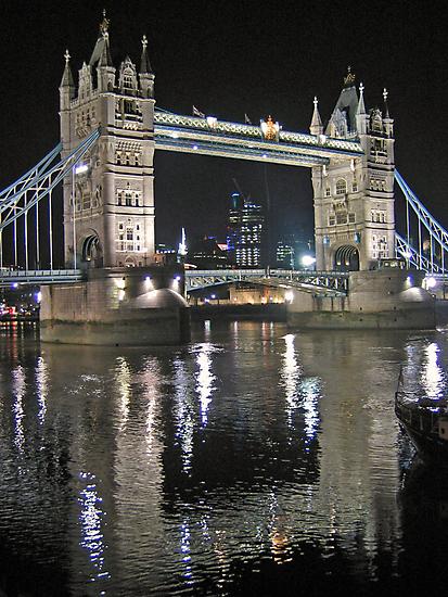 Tower Bridge reflections by Jeanne Horak-Druiff