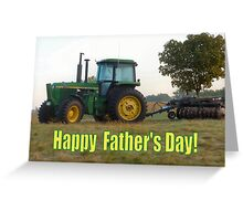 Happy Father's Day Tractor Greeting Card