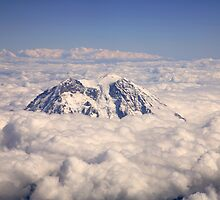 Mount Rainier over Clouds by Olga Zvereva