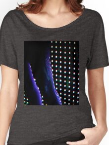 Futuristic shop dummy mannequin at night in led light effect analogue film photograph Women's Relaxed Fit T-Shirt