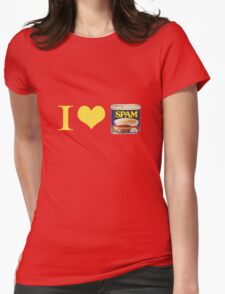 I Heart Spam Womens Fitted T-Shirt