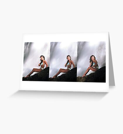 Rebecca - Triptych Greeting Card