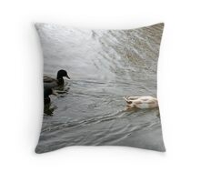 """Ducks Heading West"" Throw Pillow"
