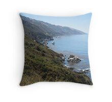 Pacific North West Coastline Throw Pillow